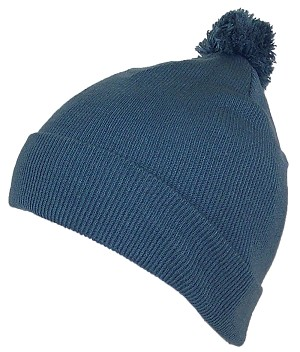 Best Winter Hats Adult Cuffed Tight Knit Winter Beanie Hat w/Pom Pom on Top (S/M)